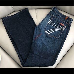 7 For All Mankind 7FAMK DOJO Wide Flare Leg Jeans